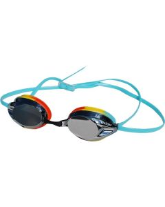 Kiefer Junior Express Mirrored Performance Swim Goggles-Smoke/Rainbow
