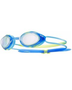 TYR Blackhawk Racing JuniorGoggles-Blue/Green/Blue