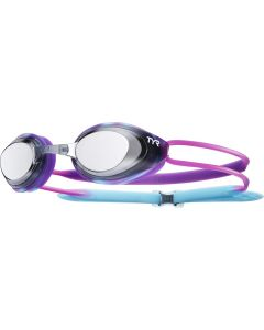 TYR Blackhawk Racing Mirrored Youth Goggles-Purple/Black