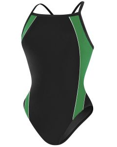 RISE Solid H-Back Poly Splice - Color - Black/Green,Size - 22