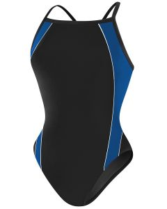 RISE Solid H-Back Poly Splice - Color - Black/Blue,Size - 24