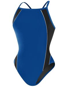RISE Solid H-Back Poly Splice - Color - Royal/Black,Size - 22