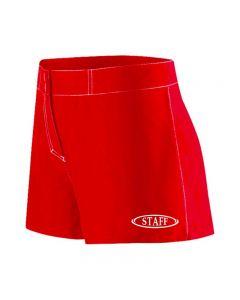 RISE Staff Female Flex Short-Red-XSmall