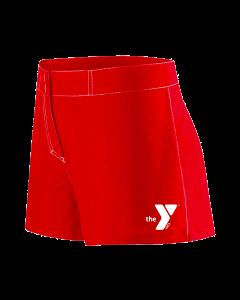 YMCA Standard Female Flex Short-Red-XSmall