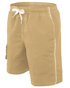 RISE Solid Male Flex Short - Color - Khaki,Size - Small