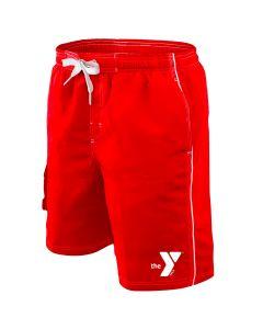 YMCA Boardshort - Color - Red,Size - Medium