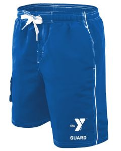 YMCA Guard Boardshort - Color - Royal,Size - Small