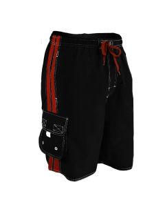 RISE Solid Splice Board Short - Color - Black/Red,Size - Small