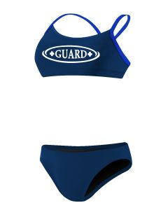 RISE Guard Poly 2-Piece Color Trim Bikini-Navy/Royal-Large