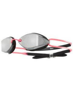 TYR Tracer X Racing Nano Mirrored Goggles-Silver/Pink
