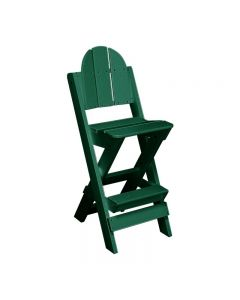 Lifeguard Chair-No Arms - Color - Forest