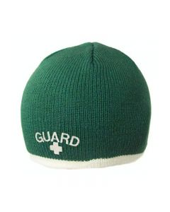 Guard Single Stripe Knit Beanie - Color - Green/Cream