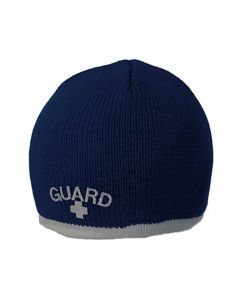 Guard Single Stripe Knit Beanie - Color - Navy/Grey