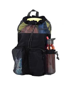 RISE Solid Mesh Equipment Bag-Black/Black