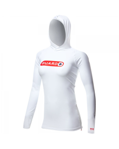 TYR Guard Women's Hoodie-White-Small
