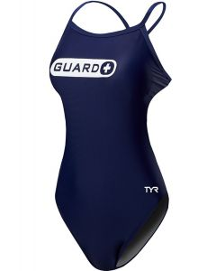 TYR Guard Women's Durafast One Crosscutfit TieBack Swimsuit-Navy-26