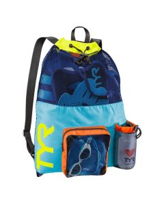 TYR Big Mesh Mummy Backpack - Color - Blue/Yellow