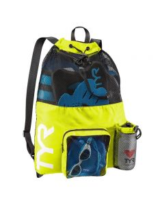 TYR Big Mesh Mummy Backpack - Color - Fluorescent Yellow