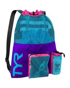 TYR Big Mesh Mummy Backpack - Color - Purple/Blue