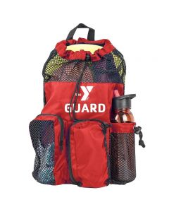 YMCA Guard Mesh Equipment Bag - Color - Red/Black