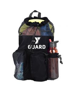 YMCA Guard Mesh Equipment Bag - Color - Black/Black