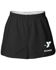 YMCA Guard Cotton Shorts - Color - Black,Size - XSmall