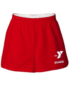 YMCA Guard Cotton Shorts - Color - Red,Size - Small