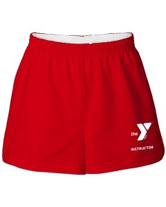 YMCA Instructor Cotton Shorts - Color - Red,Size - Small