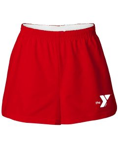 YMCA Cotton Shorts - Color - Red,Size - Small