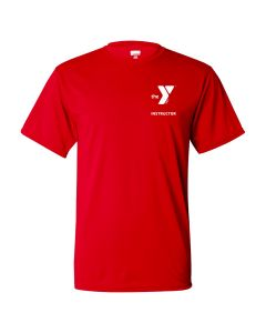 YMCA Instructor Dri-Fit Tee-Red-Small