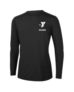 YMCA Guard Long Sleeve Rashguard 2604-Black-XSmall