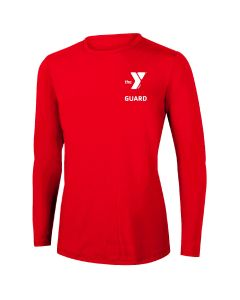 YMCA Guard Long Sleeve Rashguard 2604-Red-XSmall