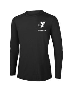 YMCA Instructor Long Sleeve Rashguard 2604-Black-XSmall