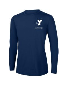YMCA Instructor Long Sleeve Rashguard 2604-Navy-XSmall