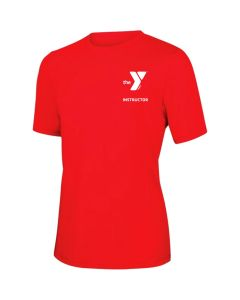 YMCA Instructor Short Sleeve Rashguard 2600-Red-XSmall