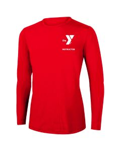 YMCA Instructor Long Sleeve Rashguard 2604-Red-XSmall