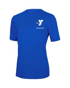 YMCA Instructor Short Sleeve Rashguard 2600-Royal-XSmall