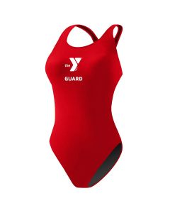 YMCA Guard Poly MB Back  - Color - Red,Size - 30