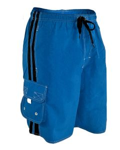 YMCA Instructor Splice Board Short - Color - Royal/Black,Size - Small