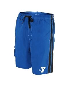 YMCA Splice Board Short - Color - Royal/Black,Size - Small