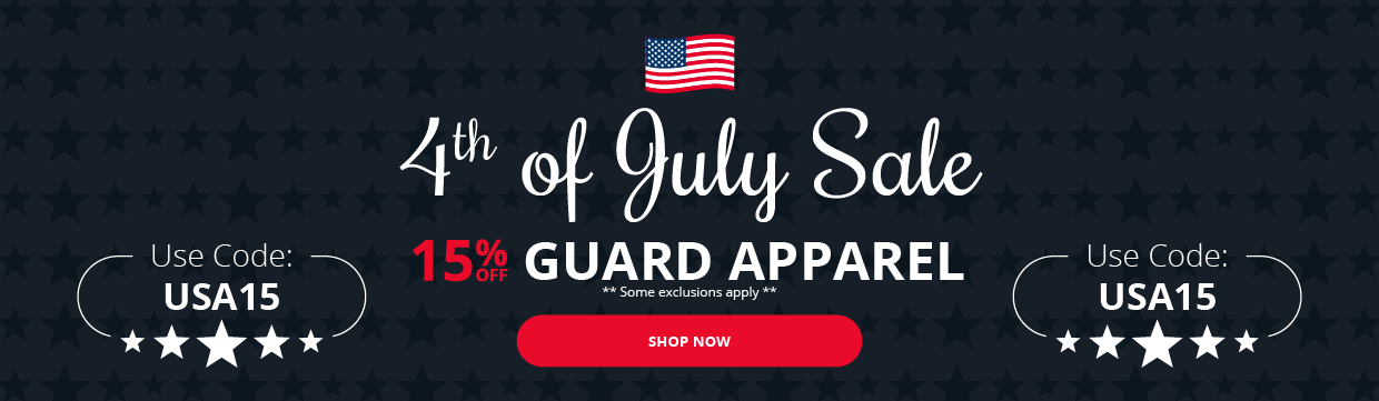4th of July Sale! 15% OFF Guard Apparel
